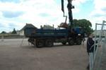 Transport du materiel (merci a l'entreprise Levern)
